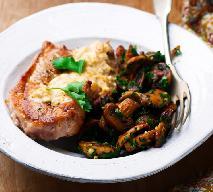 Grillowana polędwiczka wieprzowa w sosie maślanym z kurkami