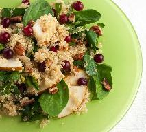 Sałatka z quinoa: czyli komosy, gruszki i liści szpinaku