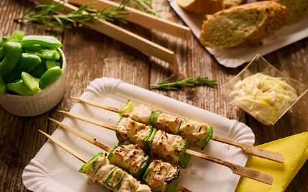 Souvlaki z piersi kurczaka - czyli szaszłyki na sposób grecki