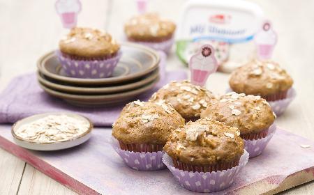 Owsiane muffiny z jabłkami